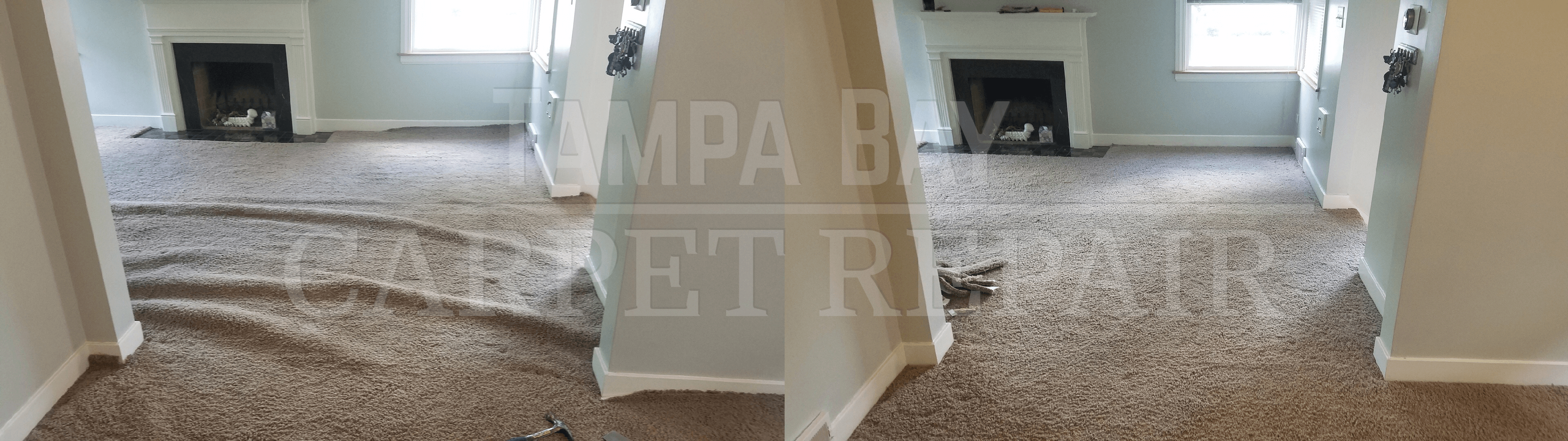 Hopefully, you never encounter such looseness in your carpet. It's hard to say how this carpet got so loose, but it is clear that this situation needed to ...